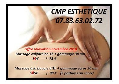 Massage estheticienne a domicile 60 95 27